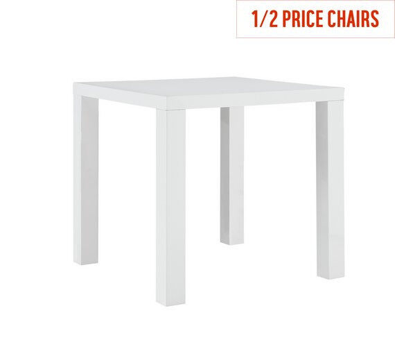 Hygena Lyssa 2 Seater Dining Table White Gloss