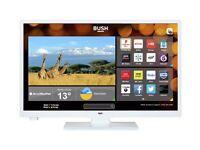 Bush 24 inch white smart tv dvd combi brand new unboxed