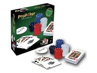 New Poker set including chips / cards / felt table cloth