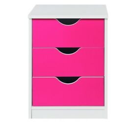 HOME New Pagnell Bedside Chest - Pink