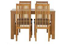 Pemberton Oak Veneer Dining Table & 4 Chairs -Grey