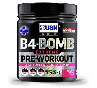 USN Pre Workout B4 Bomb 300G - Cherry Pop Best Protein
