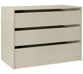 Hygena Atlas Double Internal 3 Drawer Chest - Cream