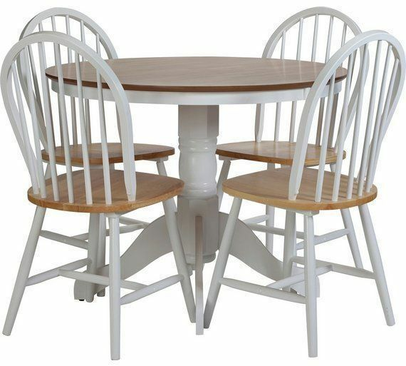 BRAND NEW BOXED KENTUCKY FOUR CHAIRS IN WHITE/ NATURAL.