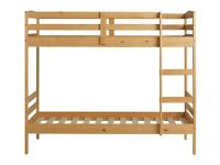 Josie Shorty Bunk Bed Frame with mattresses - Natrual