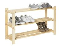 Solid Pine Shoe Shelf/Shoe Storage Rack