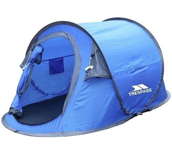 d8e2c53fa33 Trespass 2 Man 1 Room Pop Up Tent - Blue