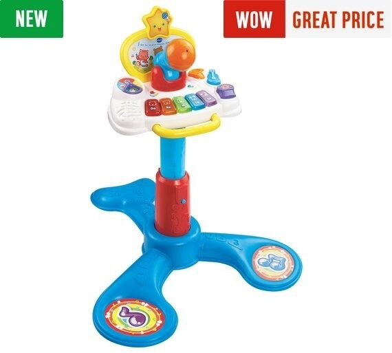 As new vtech sit to stand musical tower