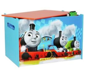 Boys Storage Toy Box Wooden Chest Children Bedroom Furniture Thomas and Friends