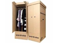 About 40 Assorted Moving Packing Boxes - small, medium, large, and wardrobe boxes. Collect ASAP