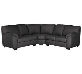 Milano Fabric Dual Facing Corner Sofa - Charcoals