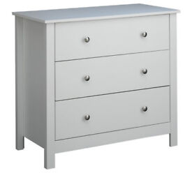 Osaka 3 Drawer Chest - Soft Grey