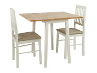 Argos Home Kendal Extendable Wood Table & 2 Chairs -Two Tone