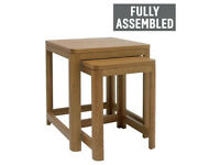 Heart of House Weymouth Nest of 2 Solid Wood Tables