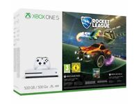 Xbox one s with rocket league 500gb