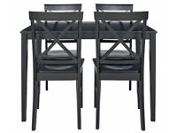 already built up Jessie Table and 4 Chairs - Black