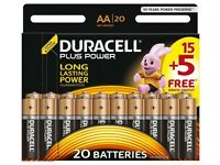 Duracell Plus Power AA Batteries 20 Pack BRAND NEW For Sale