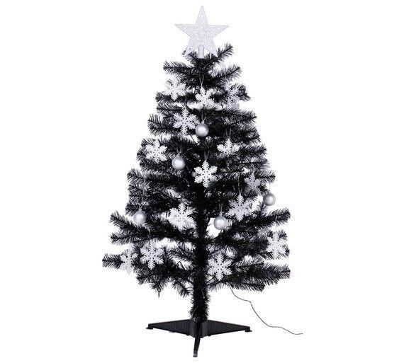Argos Home 4ft Christmas Tree - Black, White & Silver - Argos Home 4ft Christmas Tree - Black, White & Silver In Sherwood