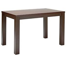 HOME Pemberton Wood Veneer 6 Seater Table - Walnut