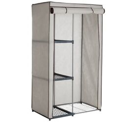 Brand New Metal and Polycotton Wardrobe with shelves