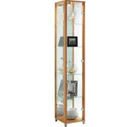 1 Glass Door Display Cabinet - Beech Effect