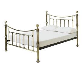 Heart of House Mason Kingsize Bed Frame - Antique Brass
