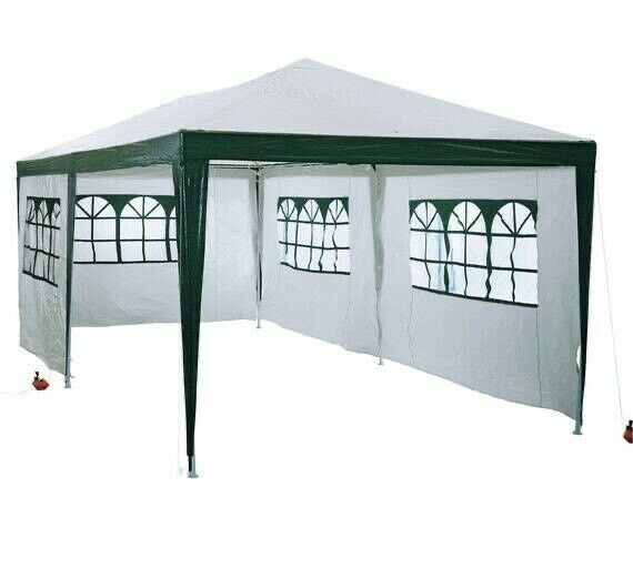 3m X 6m Weather Resistant Gazebo With 6 Side Panels