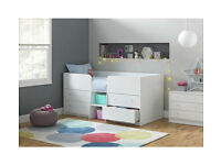 HOME Malibu Mid Sleeper - White