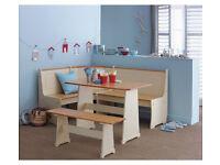 Ex display Haversham Solid Pine Corner Dining Set with Bench