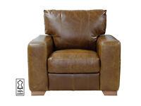 Heart of House Tan leather armchair