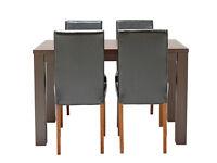 HOME Pemberton Oak Veneer Dining Table & 4 Chairs - Black