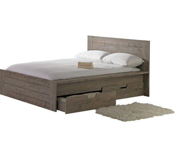 Seattle Double 2 Drawer Bed Frame - Smokey Oak   in Bradford, West ...