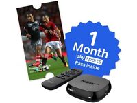 Brand new Now tv box with 1 months sports pass ALL BOXED AND NEVER OPENED.
