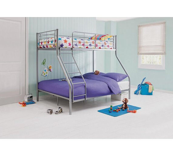 Lucas Metal Triple Bunk Bed Frame Silver In Bradford West