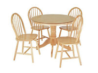 already built up Kentucky Wood Veneer Table & 4 Chairs - Natural