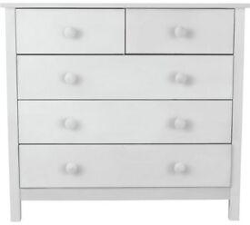 Ex display Scandinavia 3+2 Drawer Chest - White