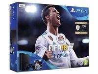 PS4 & Fifa 18 Bundle in Box