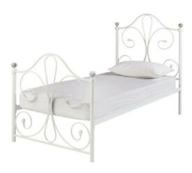 Marietta Single Bed Frame - White