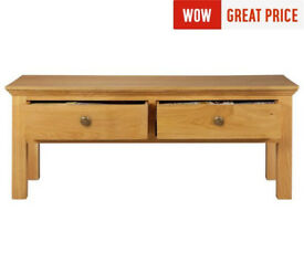 Kingsbury Oak & Oak Veneer Coffee Table