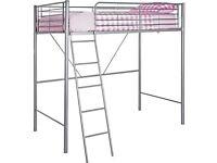 Metal high sleeper bed