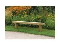 solid wood outdoor garden bench