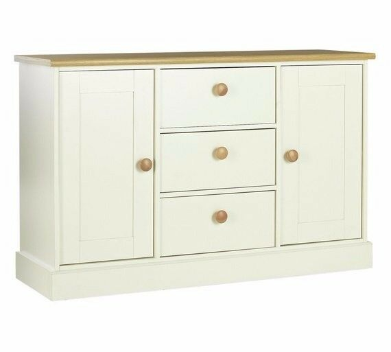 Ex display Winchester 2 Door 3 Drawer Sideboard - Two Tone