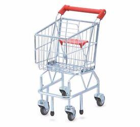 Childrens Melissa & Doug metal shopping trolley