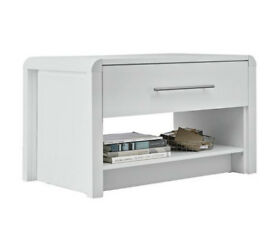 Fully assembled Elford 1 Drawer Coffee Table - White