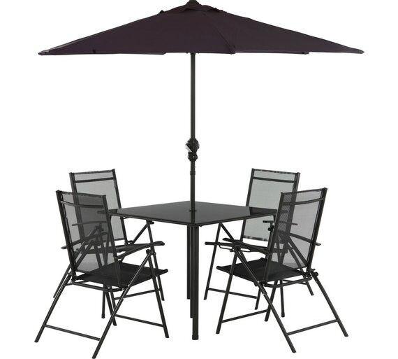 MILAN 4 seater patio set
