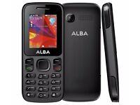 ALBA 1.8 IN. DUAL SIM BAR PHONE BLACK SIM FREE CAMERA BLUETOOTH MP3 PLAYER UNLOCKED