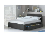 Hygena Keating Small Double 1 Drawer Bed Frame - Black