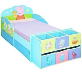 New Bargain.Toddler bed with cube storage unit and 2 drawers. Peppa Pig. Boxed, Can deliver.