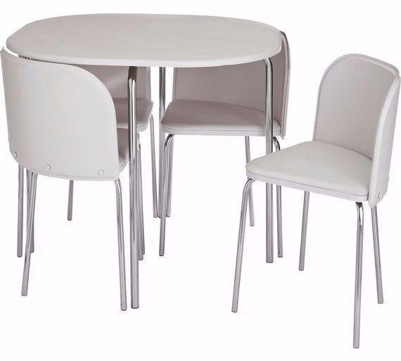 BRAND NEW!! 4 WHITE dining chairs AMPARO