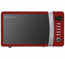 Russell Hobbs 700W Standard Microwave - Red